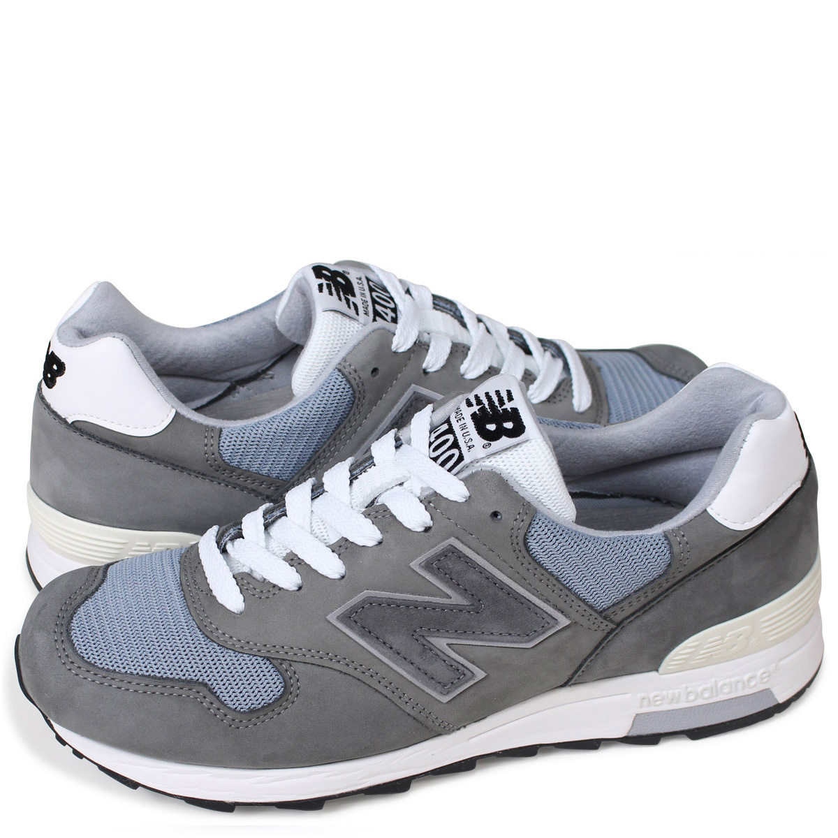 new balance M1400WA New Balance 1400 men's lady's sneakers D Wise MADE IN  USA gray [186]