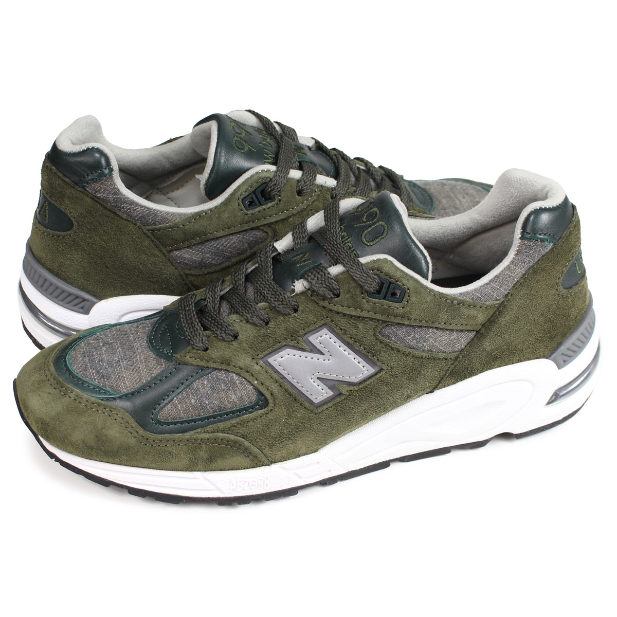 newest 7d9e7 ef427 new balance M990DSU2 New Balance 990 sneakers men D Wise MADE IN USA olive  [load planned Shinnyu load in reservation product 2/12 containing] [192]