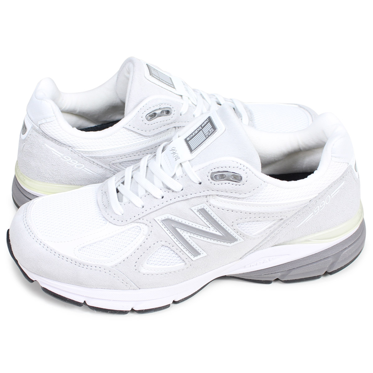 more photos bd065 6073e new balance M990JUA4 New Balance 990 sneakers men gap Dis D Wise MADE IN  USA white white [193]