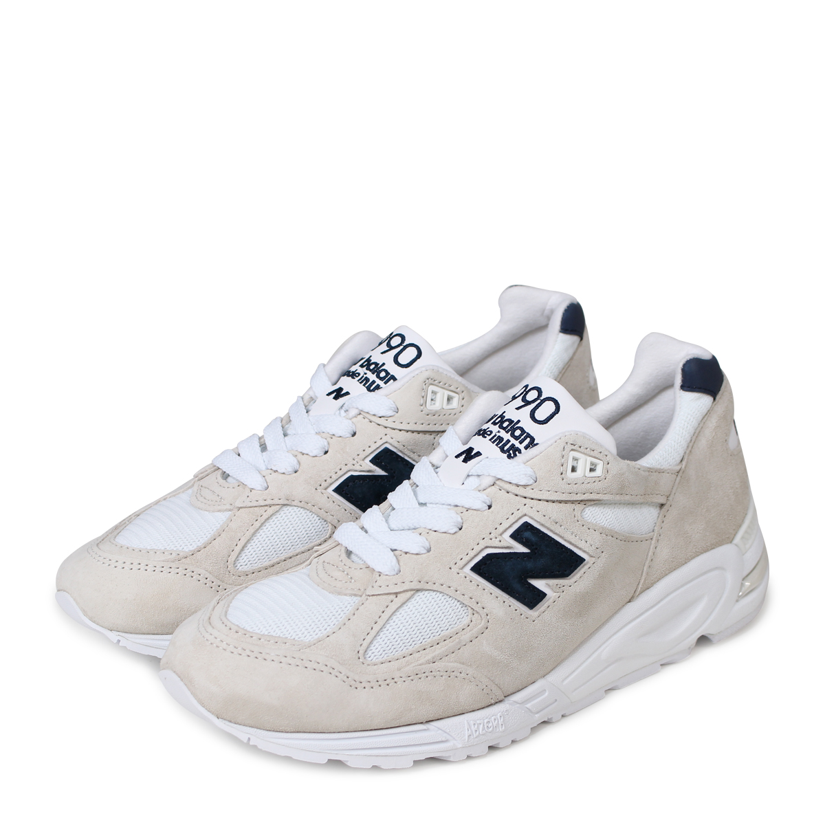 online store ff7fd cfeff new balance M990WE2 New Balance 990 men's sneakers D Wise MADE IN USA  off-white [193]
