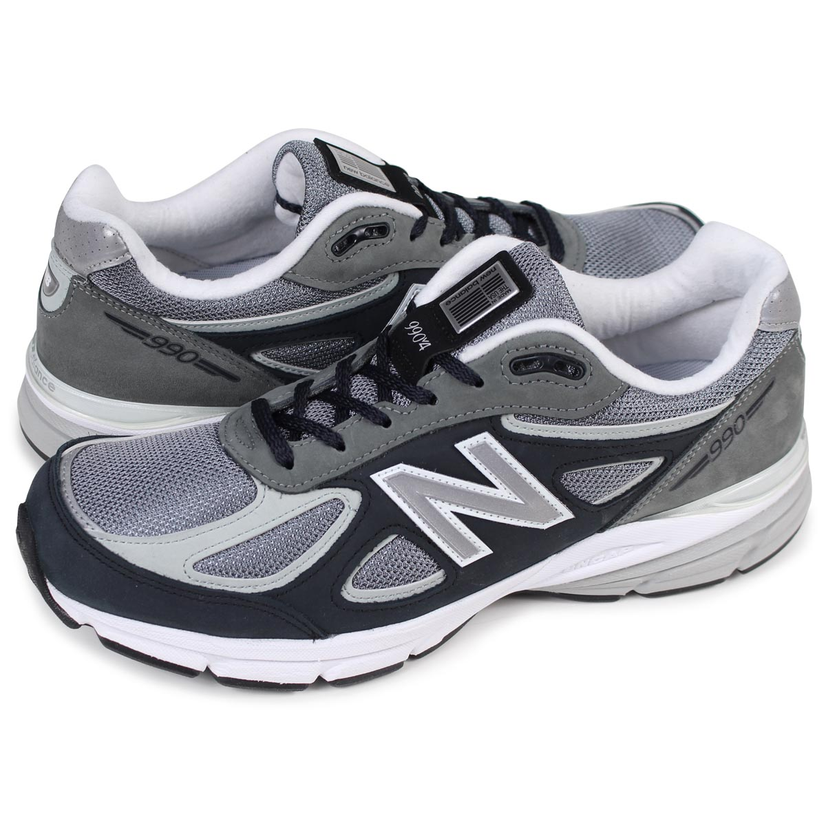 reputable site 9d895 17590 new balance M990XG4 MADE IN USA New Balance 990 men's sneakers D Wise gray  [193]