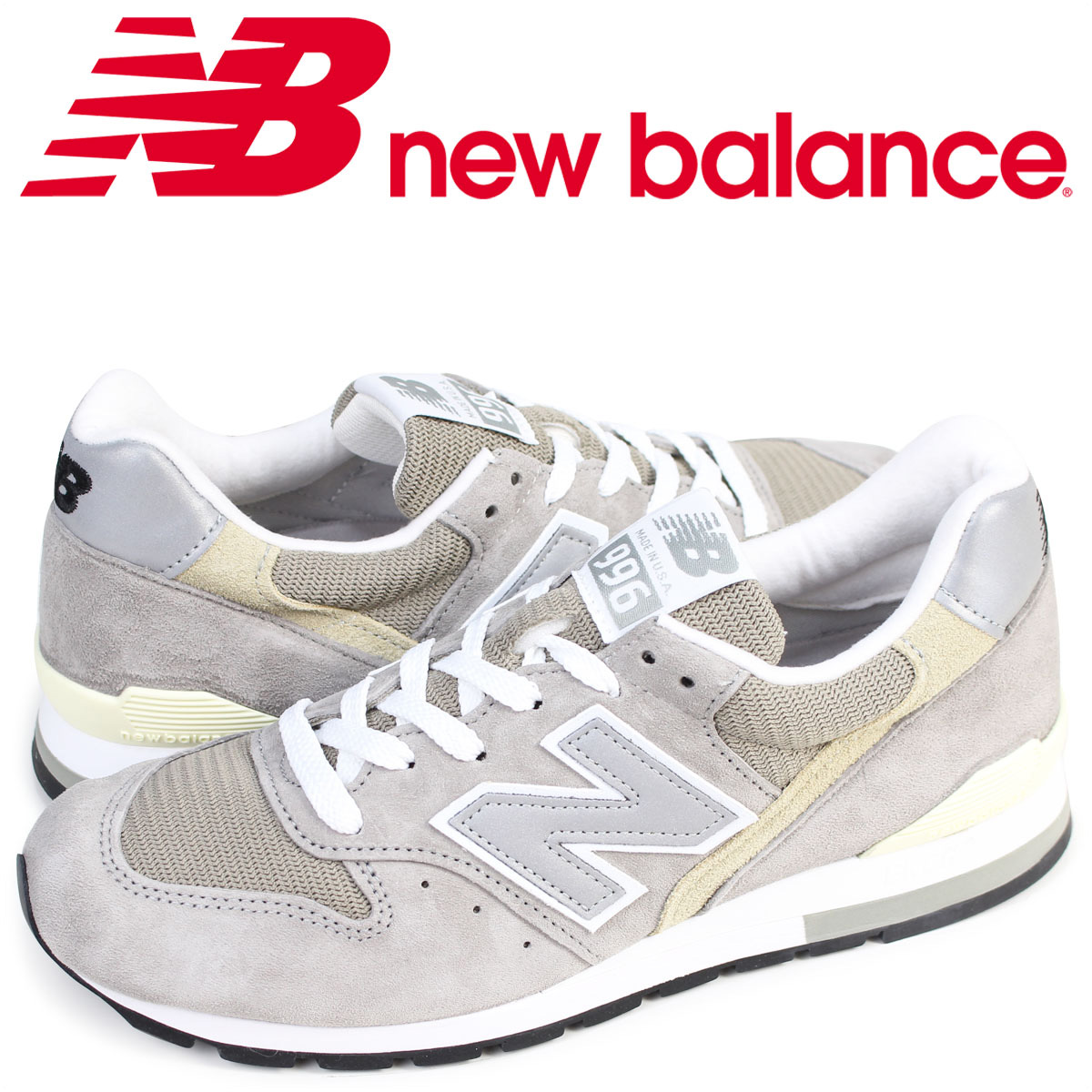 new balance M996 GY ニューバランス 996 スニーカー MADE IN USA Dワイズ メンズ 靴 グレー [4/23 追加入荷]