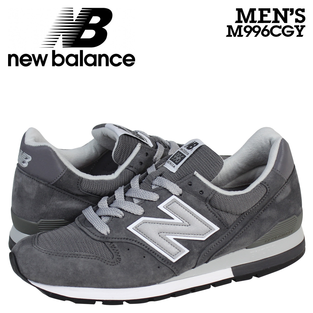 watch 7214b feb79 new balance New Balance 996 sneakers M996CGY MADE IN USA men shoes gray