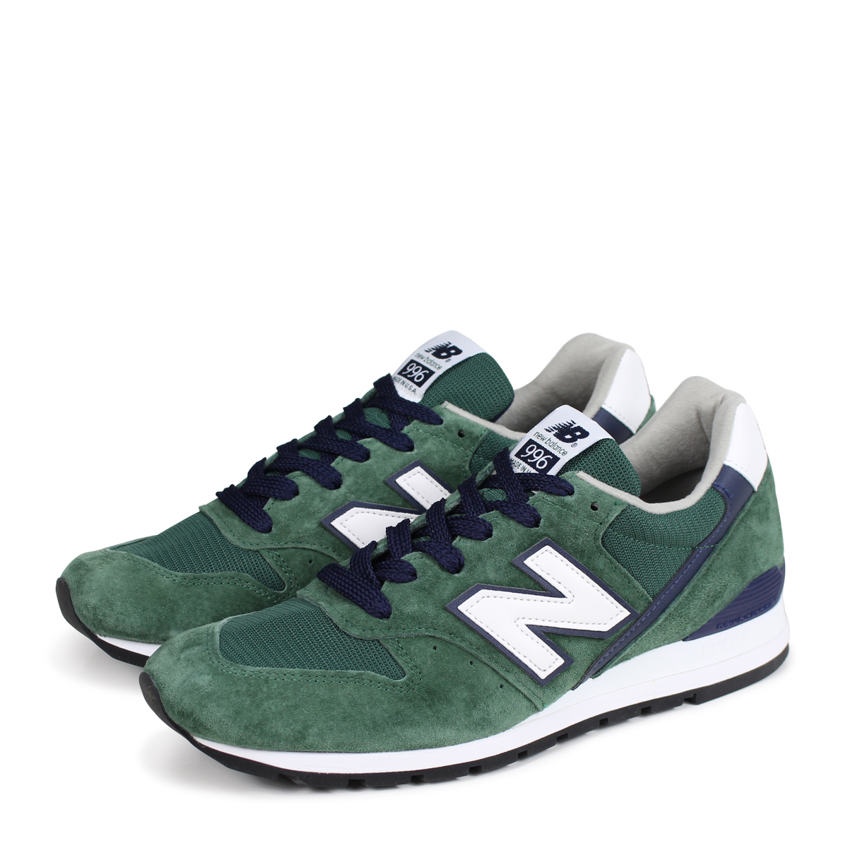 buy popular 17168 df2d1 new balance 996 New Balance sneakers USA M996CSL D Wise men gap Dis shoes  green ...