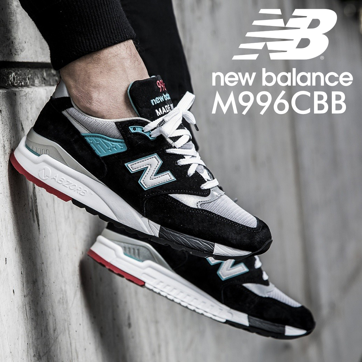 the latest 2f4e7 109c3 new balance 998 men's New Balance sneakers M998CBB D Wise MADE IN USA shoes  black [9/14 Shinnyu load] [179]