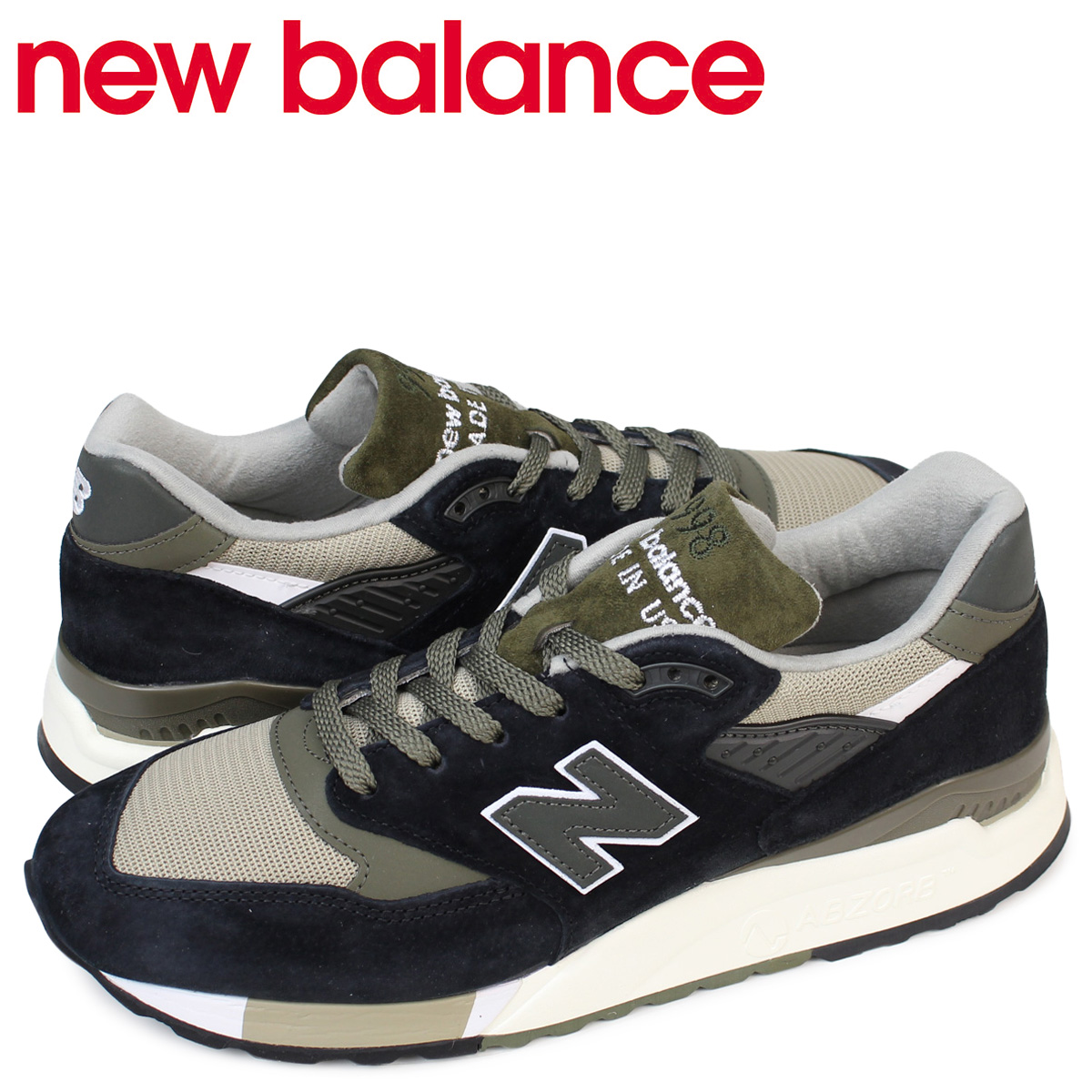 pretty nice 5ae1b c0954 new balance 998 men's New Balance sneakers M998CTR D Wise shoes black