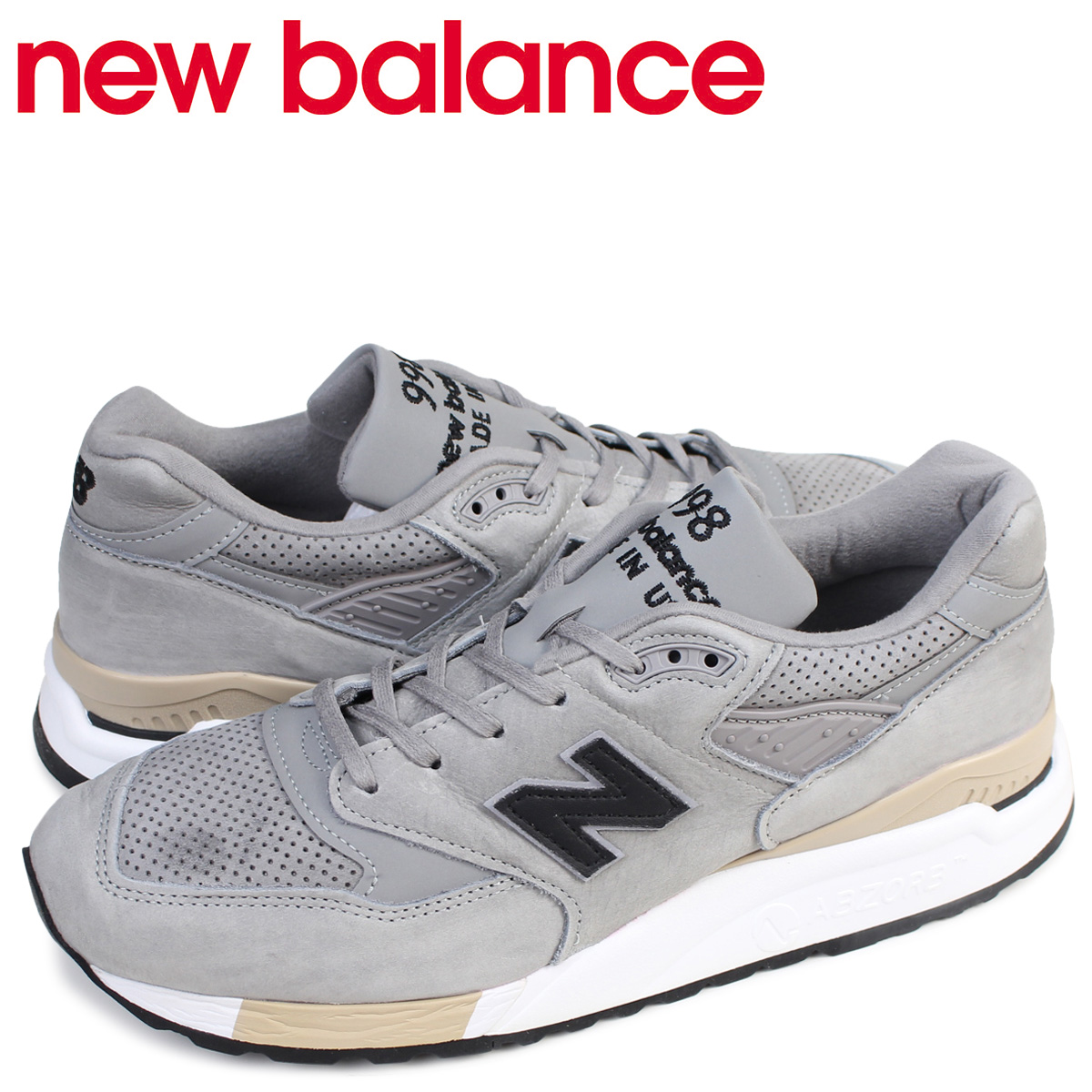 bfba46d9f994 ALLSPORTS  new balance 998 men s New Balance sneakers M998DTK D Wise shoes  gray  175