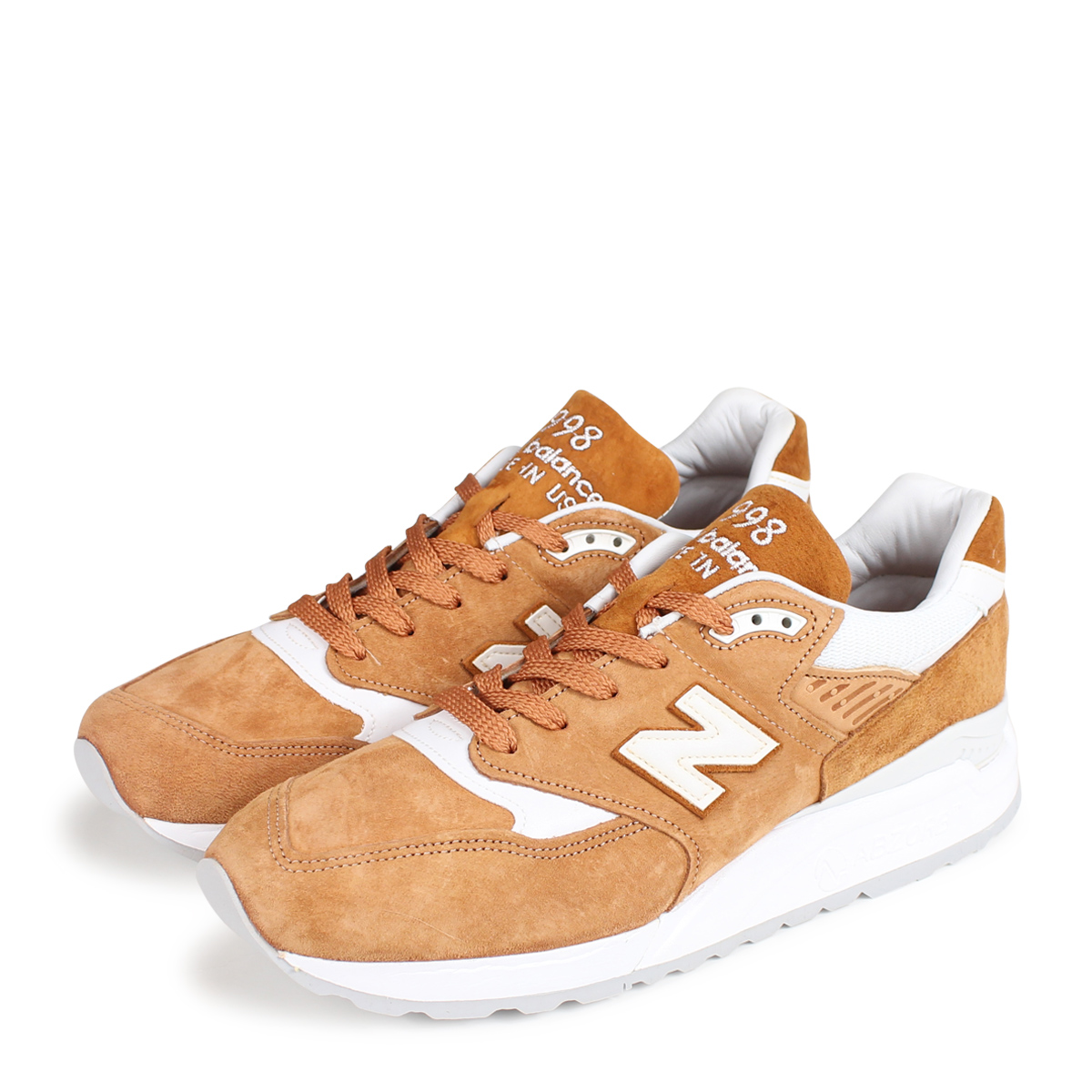 05ec8ee1b5a5 new balance M998TCC New Balance 998 men s sneakers D Wise MADE IN USA brown   10 19 Shinnyu load   1810