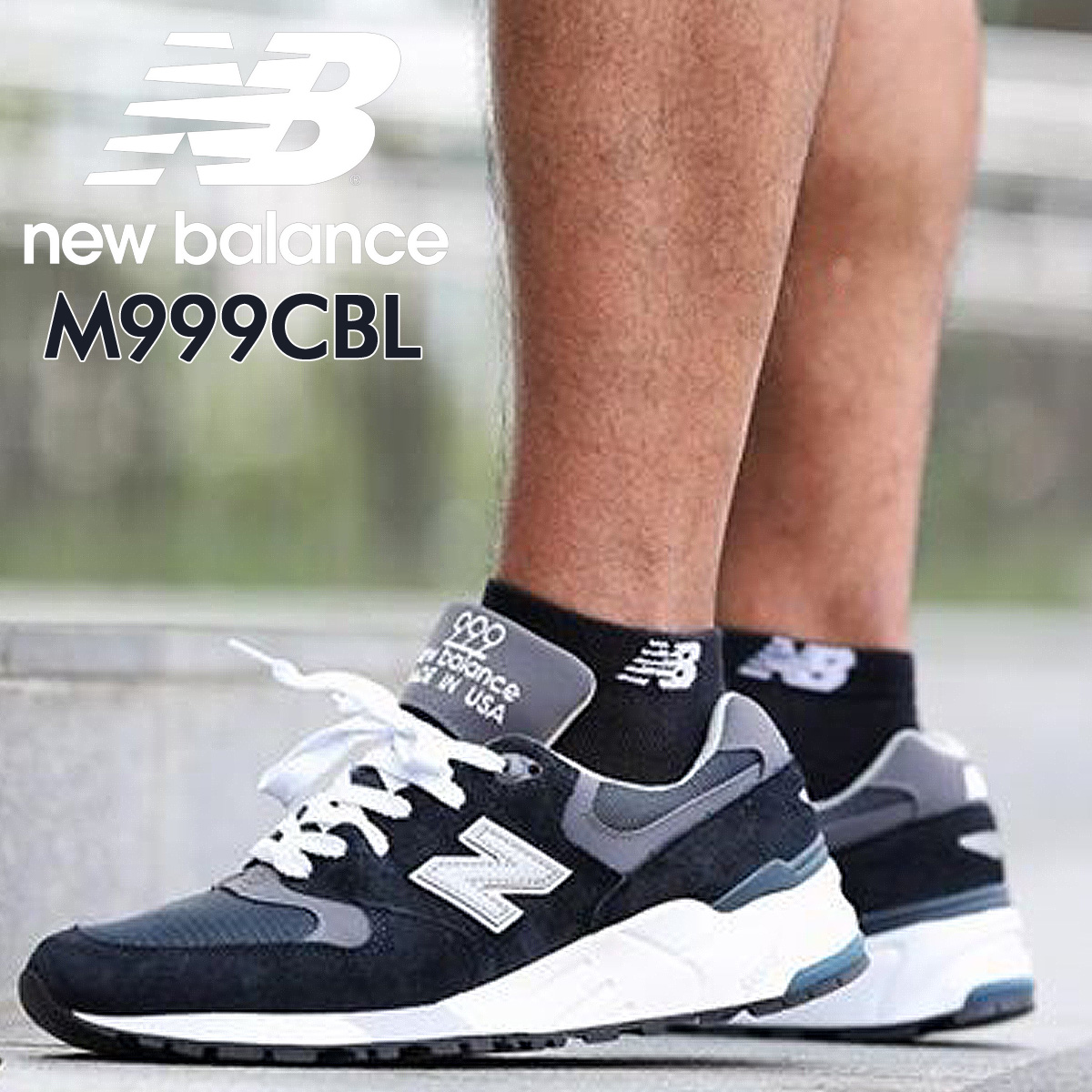 online store eb8bb 7c339 new balance M999CBL MADE IN USA New Balance 999 men's sneakers D Wise navy  [193]