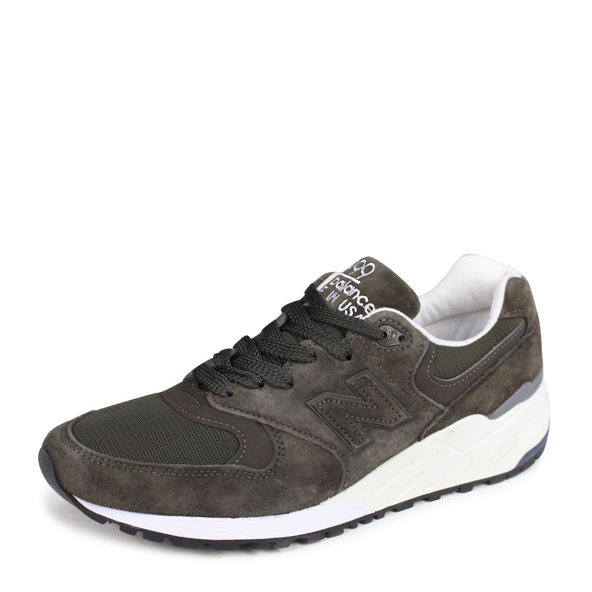 quality design cfbe9 f2edd new balance M999NJ New Balance 999 men's sneakers D Wise MADE IN USA dark  green [189]