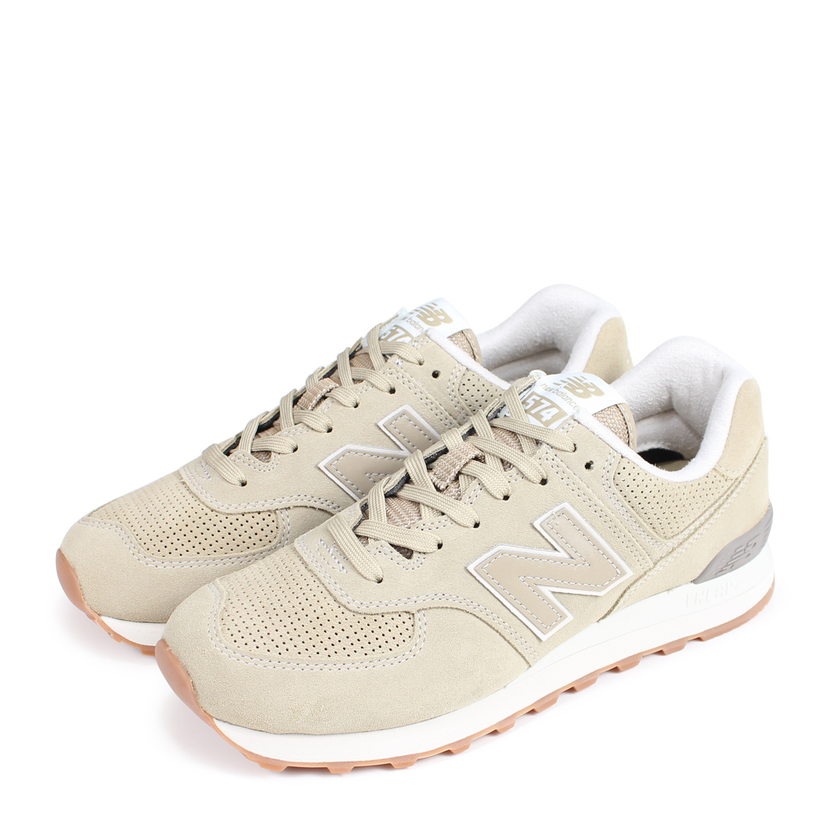 select for best luxury reasonable price new balance ML574ESF New Balance 574 men's sneakers D Wise beige [189]