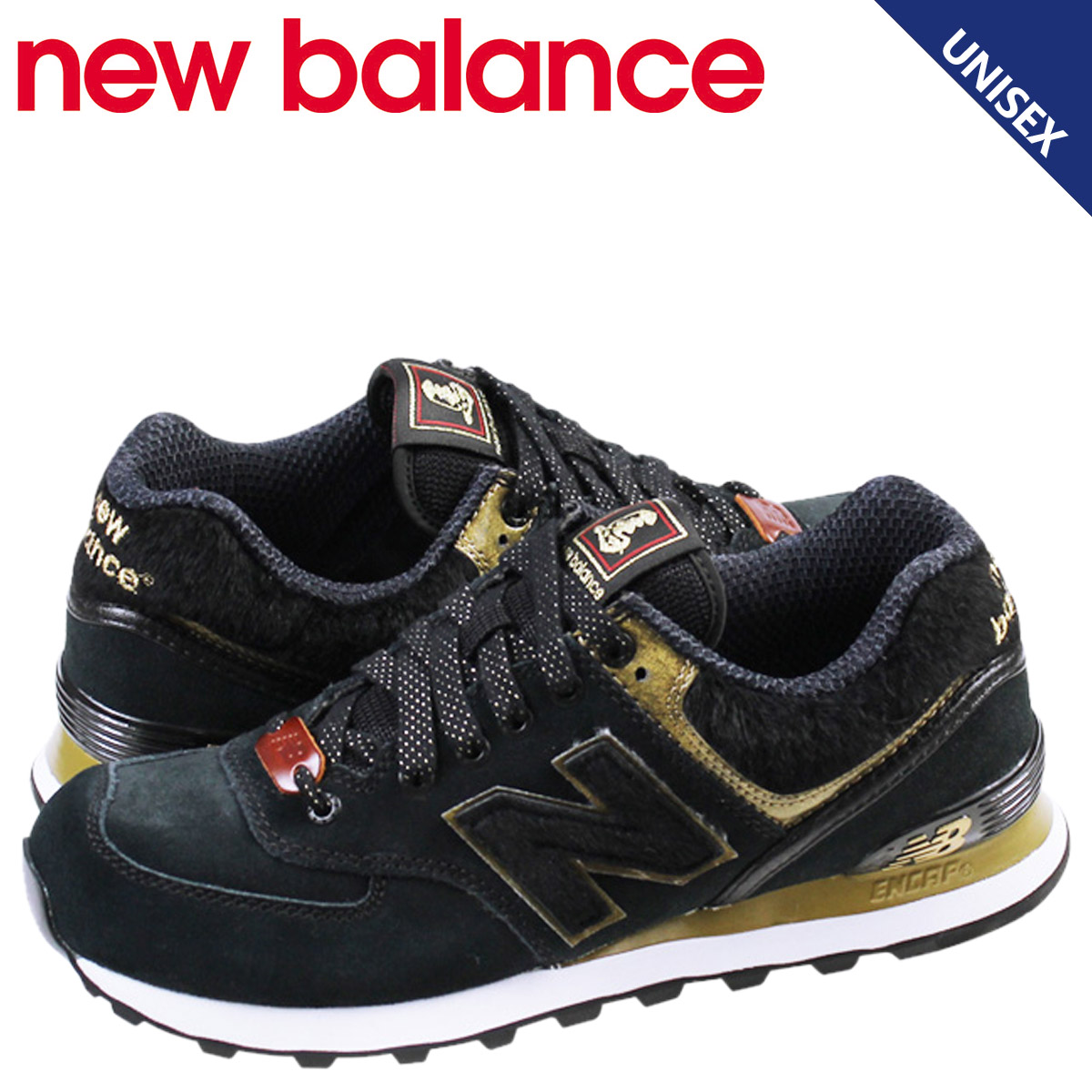 the latest 65b71 743ac new balance New Balance 574 Lady's sneakers ML574HBL D Wise Year of the  Horse men shoes black
