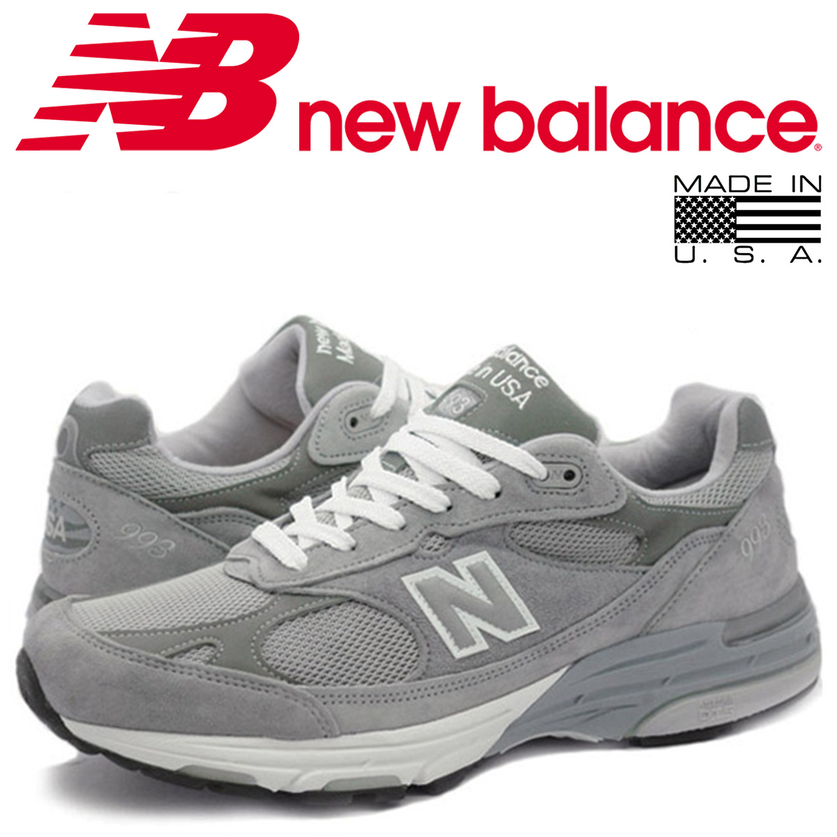 617d305938c29 ... spain new balance mr993gl 993 mens new balance sneakers d wise made in  usa gray 186