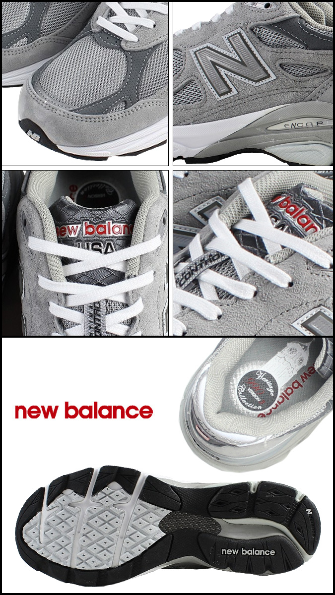 Point 2 x new balance new balance women's W990GL3 Made in USA sneaker B wise suede x mesh mens suede gray [regular] 02P30Nov14