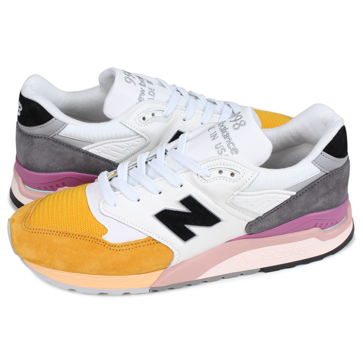 super popular b462f 5670d new balance M998PSD New Balance 998 sneakers men D Wise MADE IN USA white  white [195]