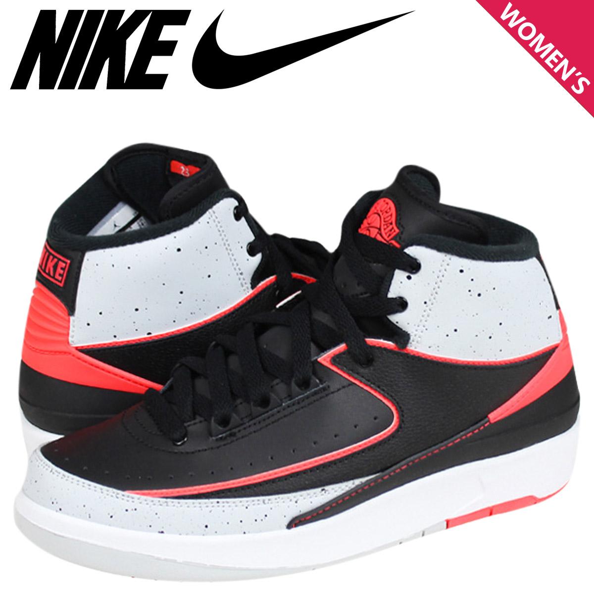 Nike NIKE kids JORDAN 2 RETRO BG sneakers Air Jordan 2 retro Leather Womens  Air Jordan black infra red junior kids GIRLS KIDS 395718-023  5   7 new in  ... ea4a979a4
