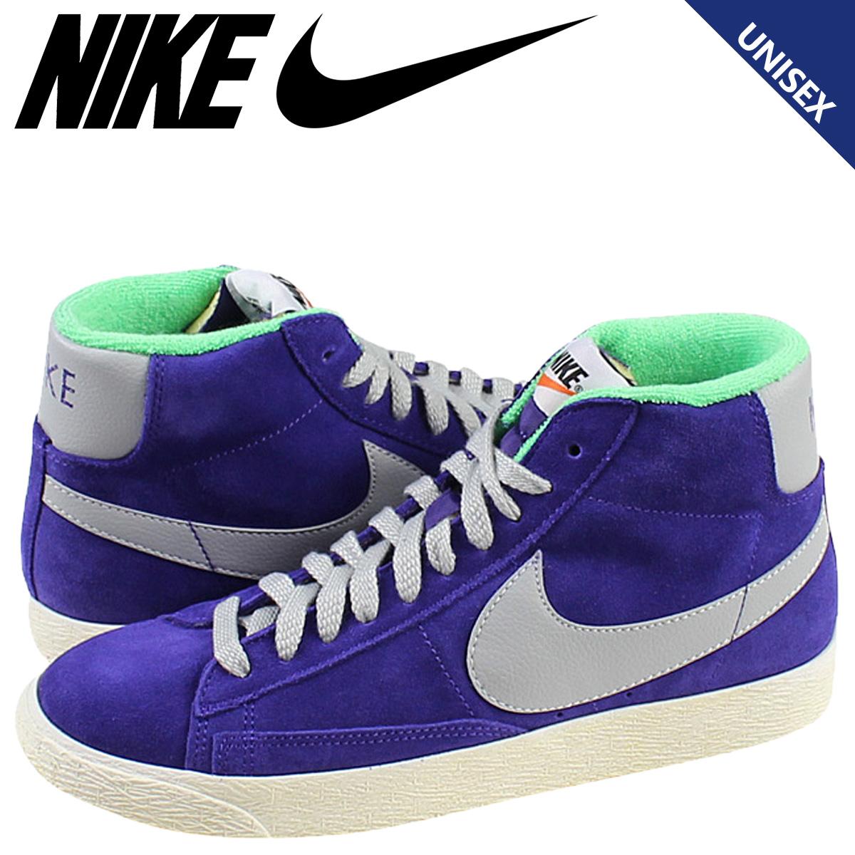 huge discount d0850 4ea71 Nike NIKE women s BLAZER MID VINTAGE sneakers Blazer mid vintage suede  men s 538282-500 blue ...