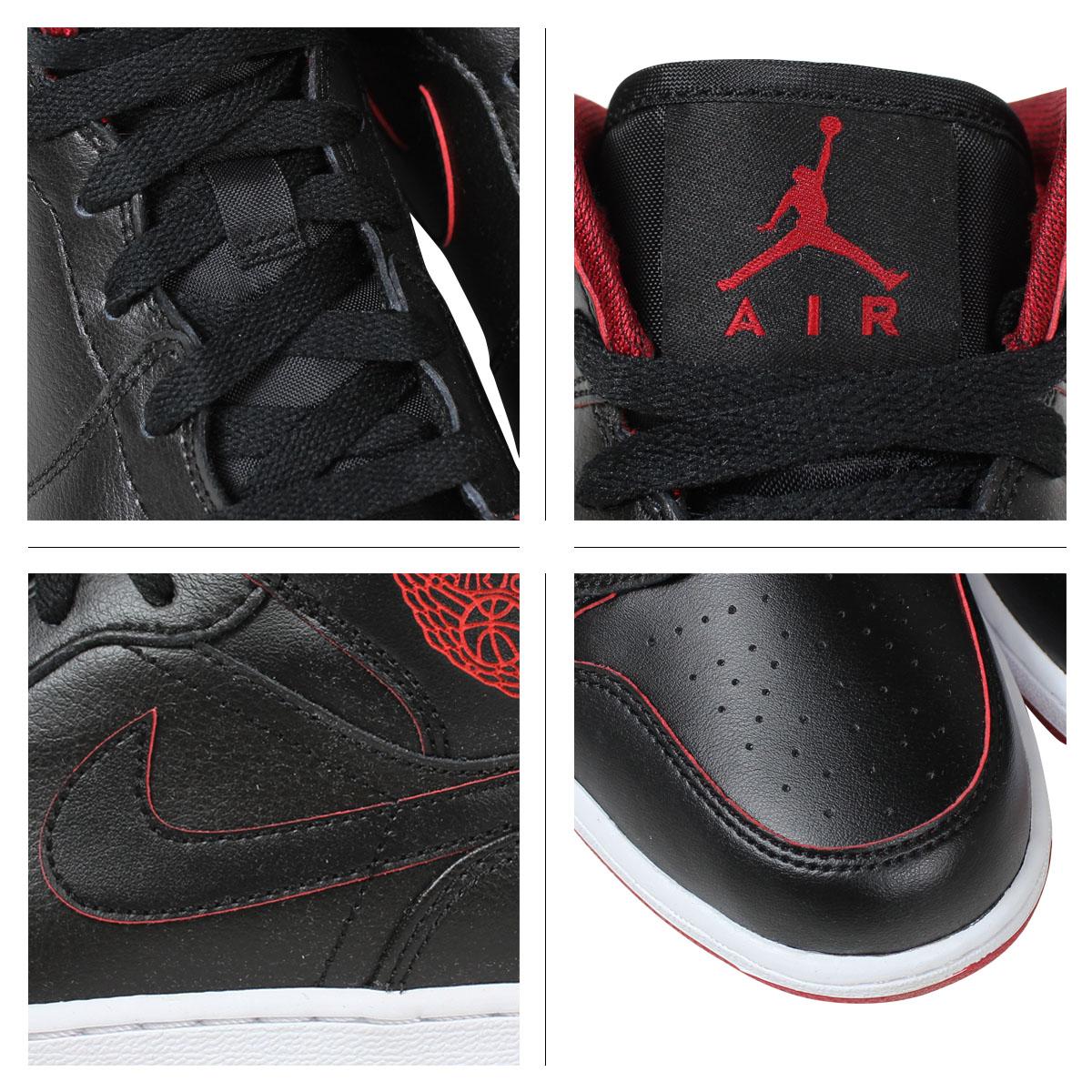 Nike NIKE Air Jordan sneakers Womens AIR JORDAN 1 MID BG Air Jordan 1 mid  554725 - 028 shoes black 8eb0e01e14