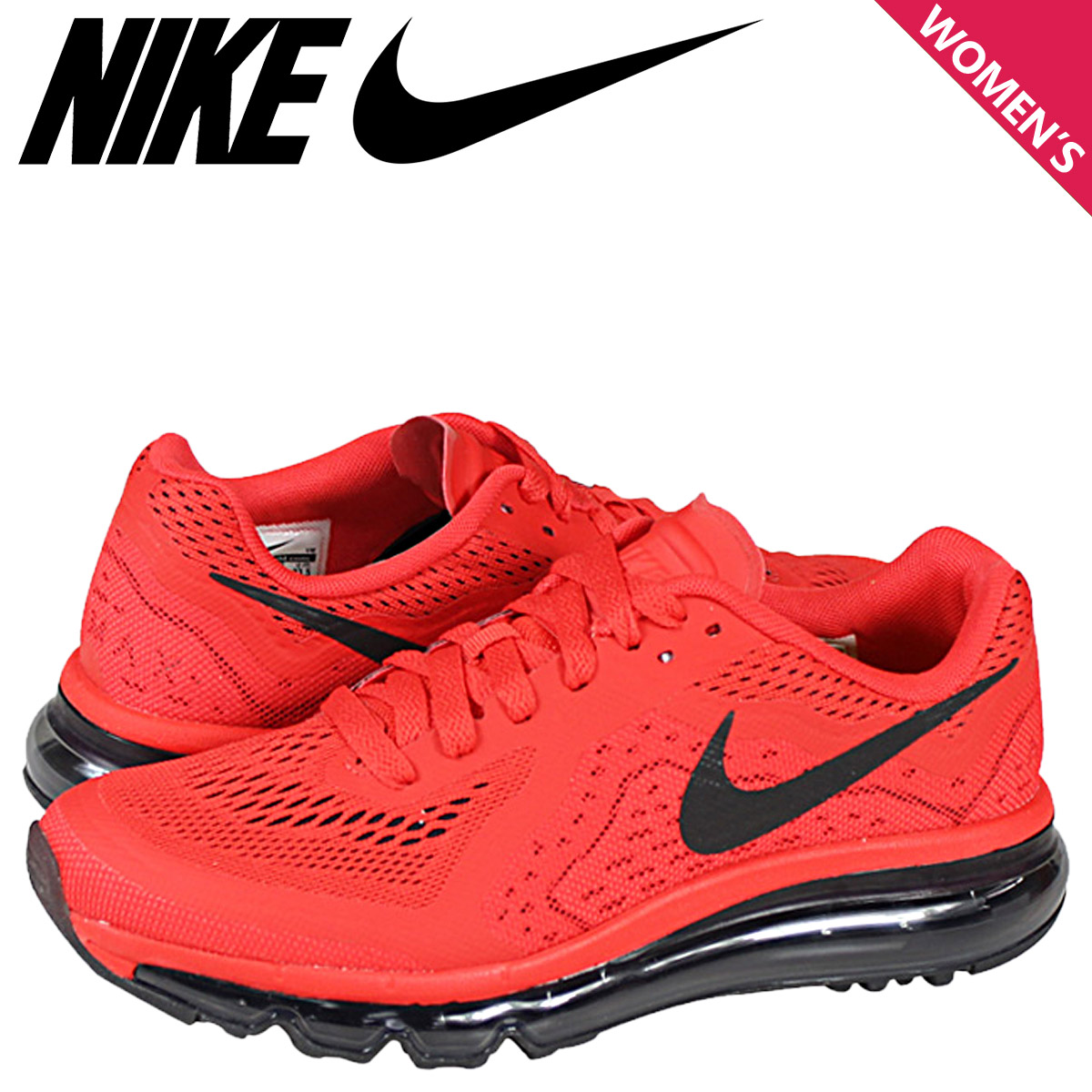 NIKE Kie Ney AMAX sneakers Lady's AIR MAX 2014 GS Air Max 2014 631,334 600 shoes red