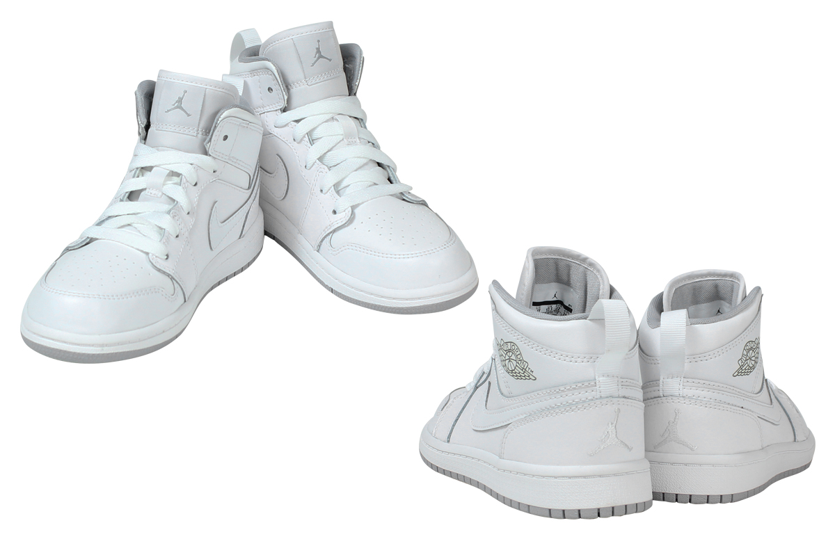 sneakers for cheap e4bca ee8d5 Nike NIKE Air Jordan sneakers kids AIR JORDAN 1 MID PS Air Jordan 1 mid  640734 - 112 shoes white