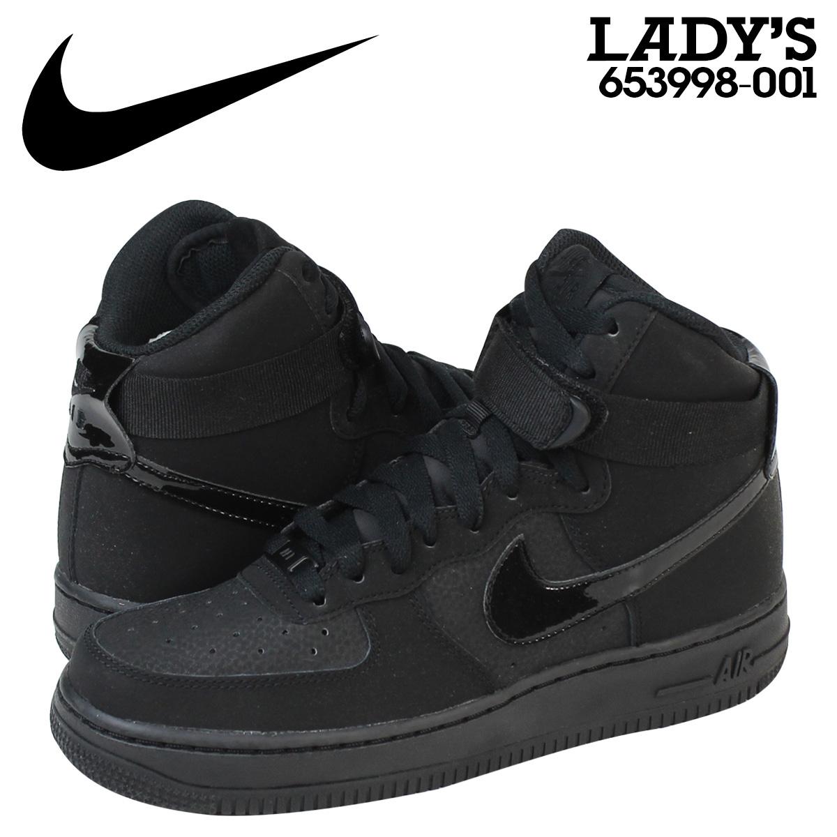 Point 2 x Nike NIKE women s AIR FORCE 1 HI GS sneakers air force 1 Hi  653998-001 black  9 15 new in stock  8e9c0efcf0