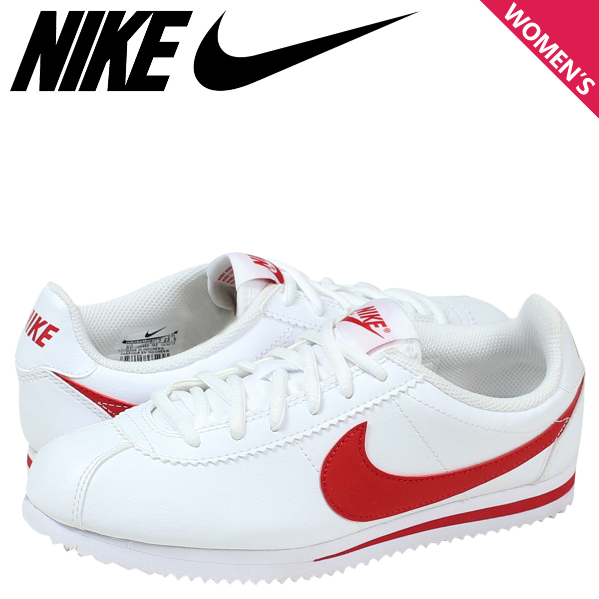 low priced 40305 e50ba Nike NIKE Cortez sneakers Womens CORTEZ GS 749482-103 shoes white