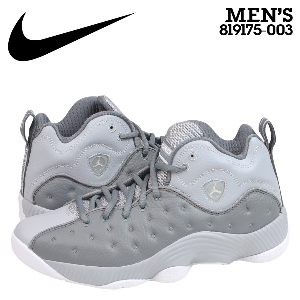 Nike NIKE Air Jordan sneaker JORDAN JUMPMAN TEAM 2 AJ13 Jordan Jumpman team  2 819175-003 mens shoes grey