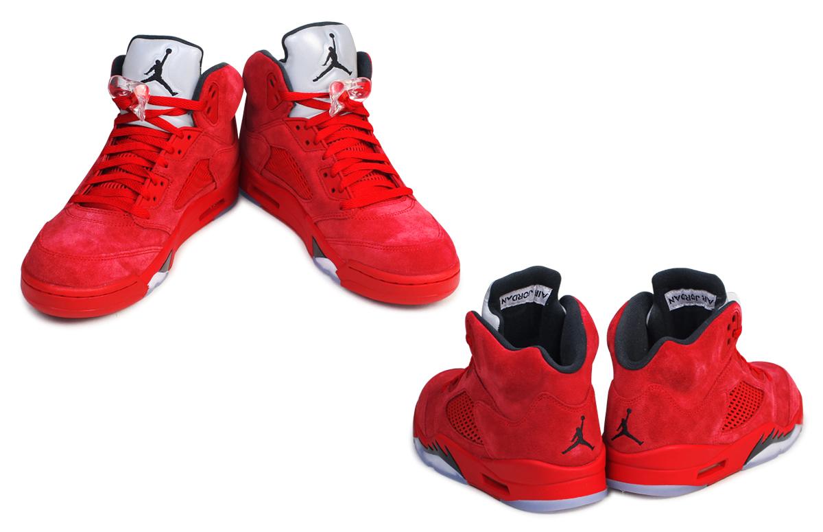 NIKE Nike Air Jordan sneakers AIR JORDAN 5 RETRO Air Jordan 5 nostalgic  136,027-602 men's shoes red [7/13 Shinnyu load] [177]