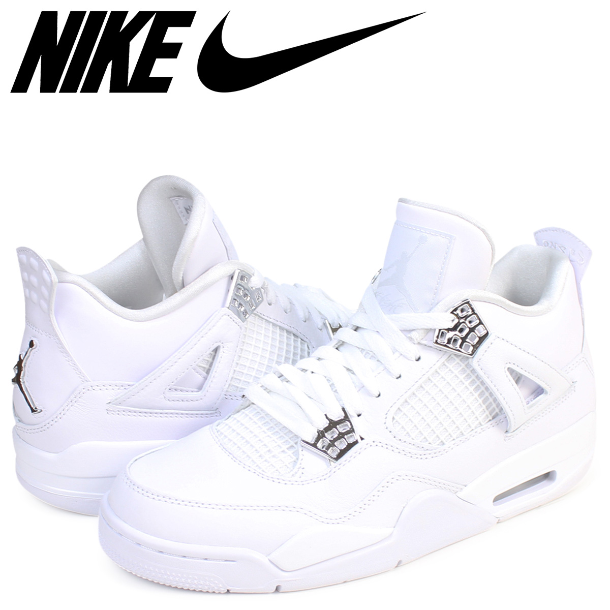 NIKE AIR JORDAN 4 RETRO PURE MONEY Nike Air Jordan 4 nostalgic sneakers men  308,497-100 white