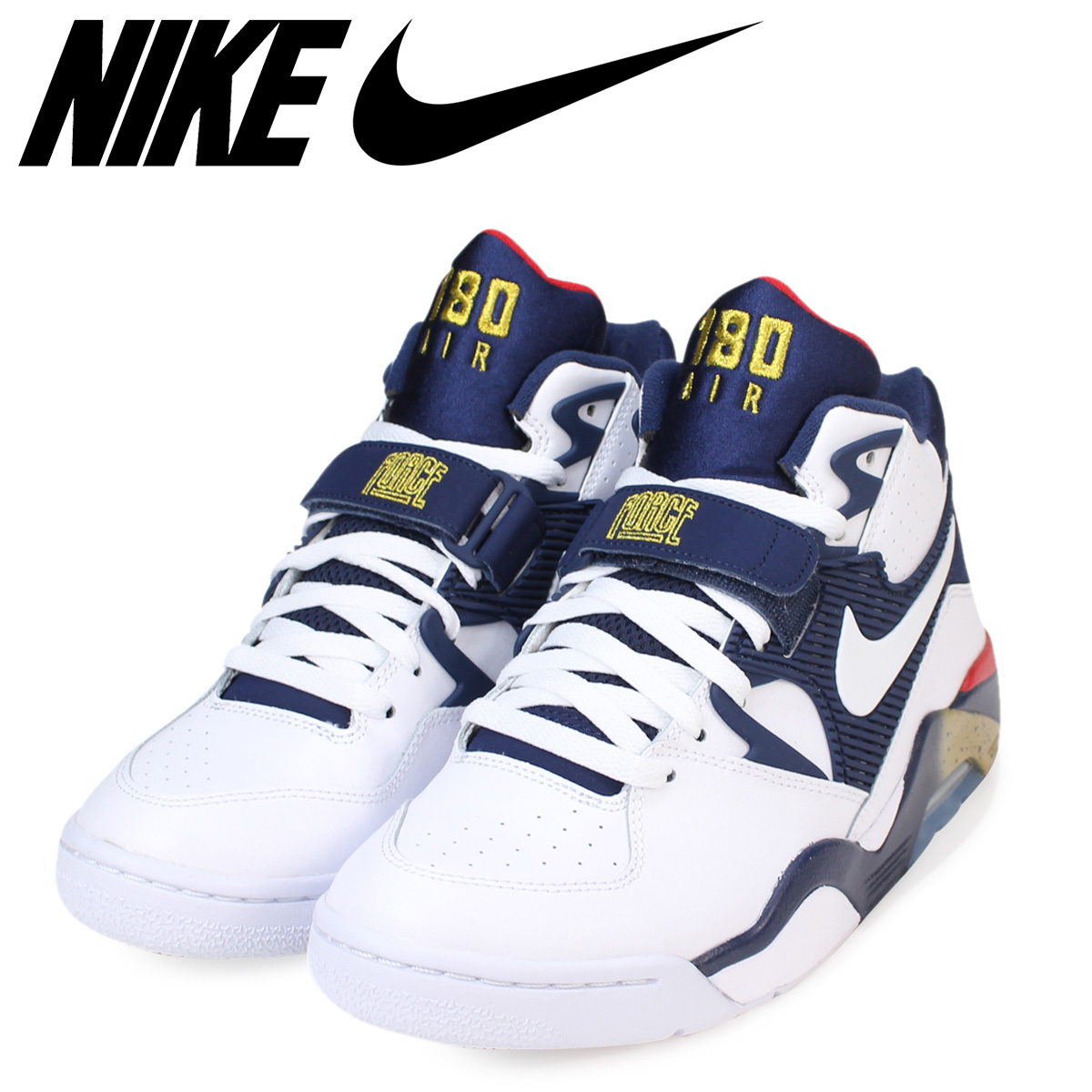 NIKE Nike air force sneakers AIR FORCE 180 OLYMPIC 310,095 100 men's shoes white [315 Shinnyu load] [173]