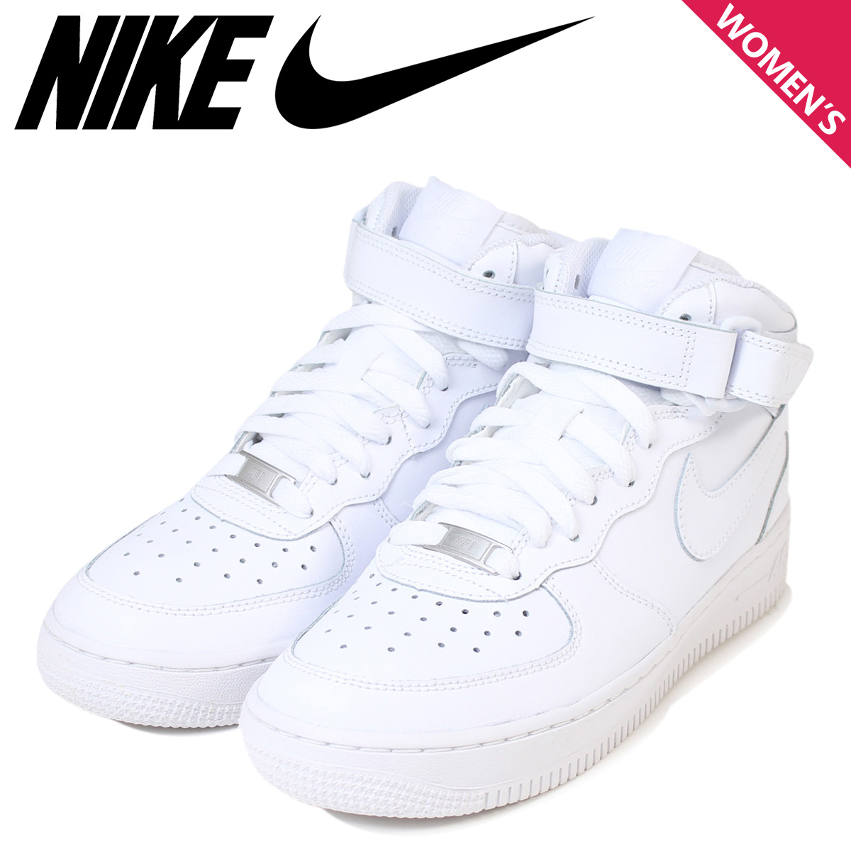 f85962d3 «Reservation products» «1 / 24 around stock» Nike NIKE Womens AIR FORCE 1  MID GIRLS 314195-113 sneaker air force 1 mid girls leather junior kids  children ...