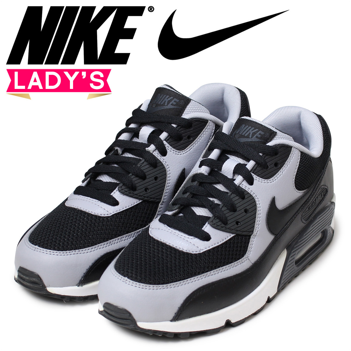 Nike NIKE Air Max Lady's sneakers WMNS AIR MAX ESSENTIAL 537,384 053 shoes black [the 123 additional arrival]