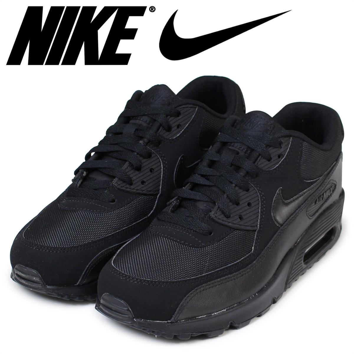 best service d80ec 99bad Nike NIKE Air Max men sneakers AIR MAX 90 ESSENTIAL 537,384-090 shoes black  124 Shinnyu load