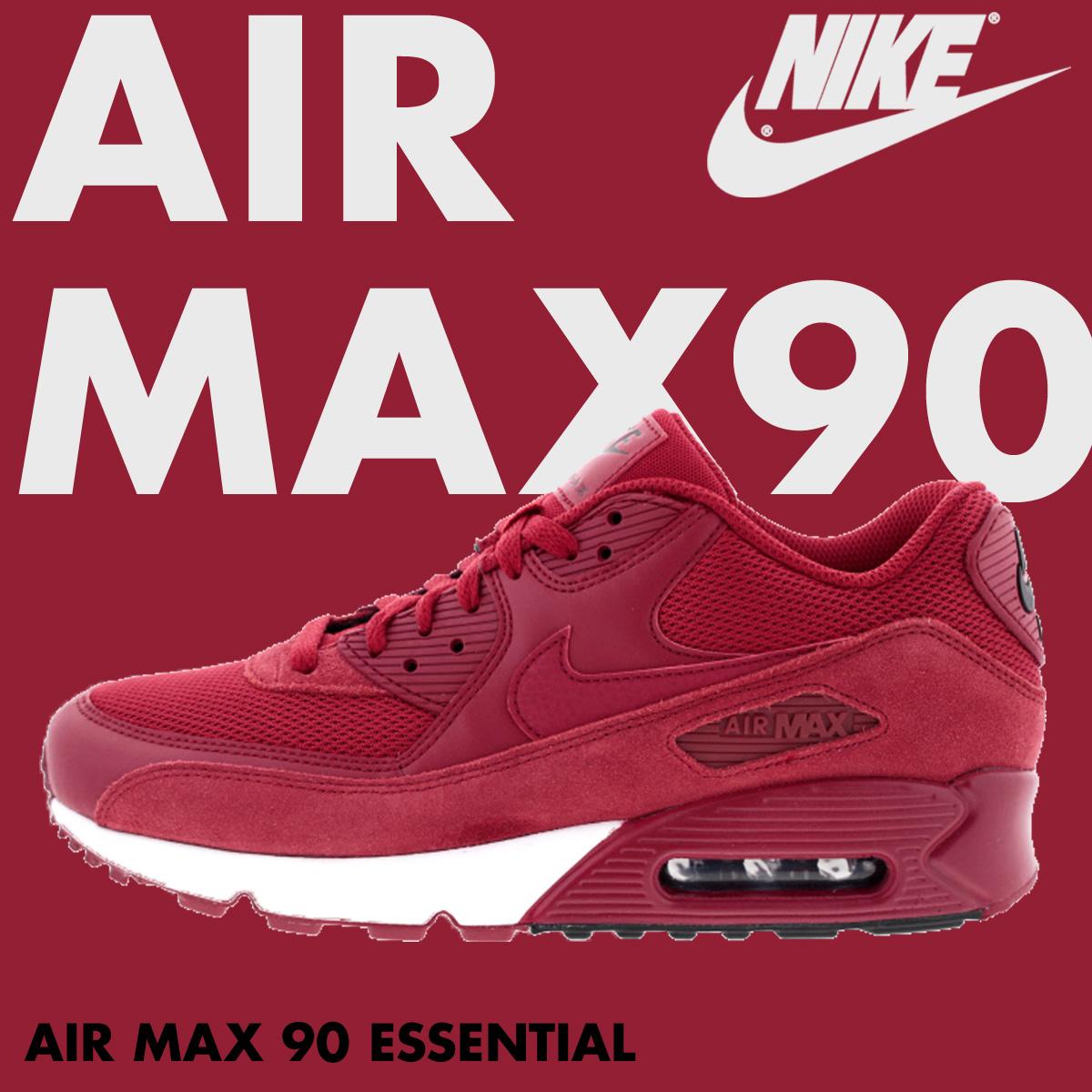 44afbadb18 ... NIKE Kie Ney AMAX men sneakers AIR MAX 90 ESSENTIAL 537,384-604 shoes  red ...