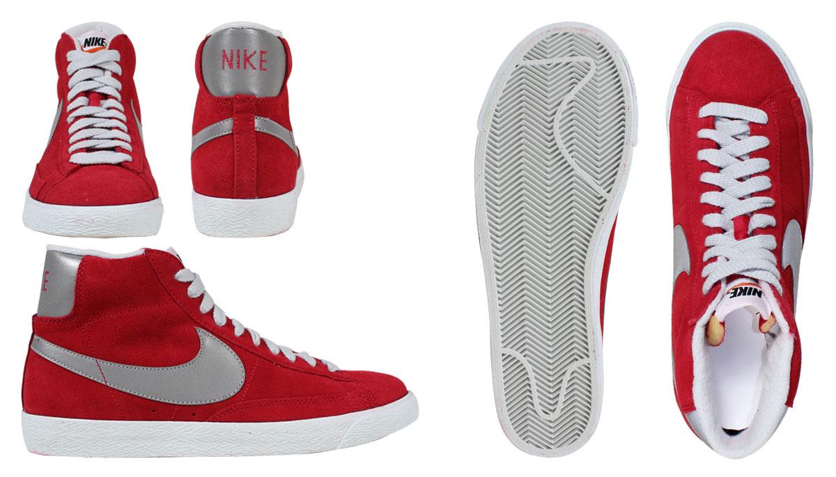 Nike Blazer Mediados De Época Hombre De Gamuza Roja Entrenadores 8JcWw