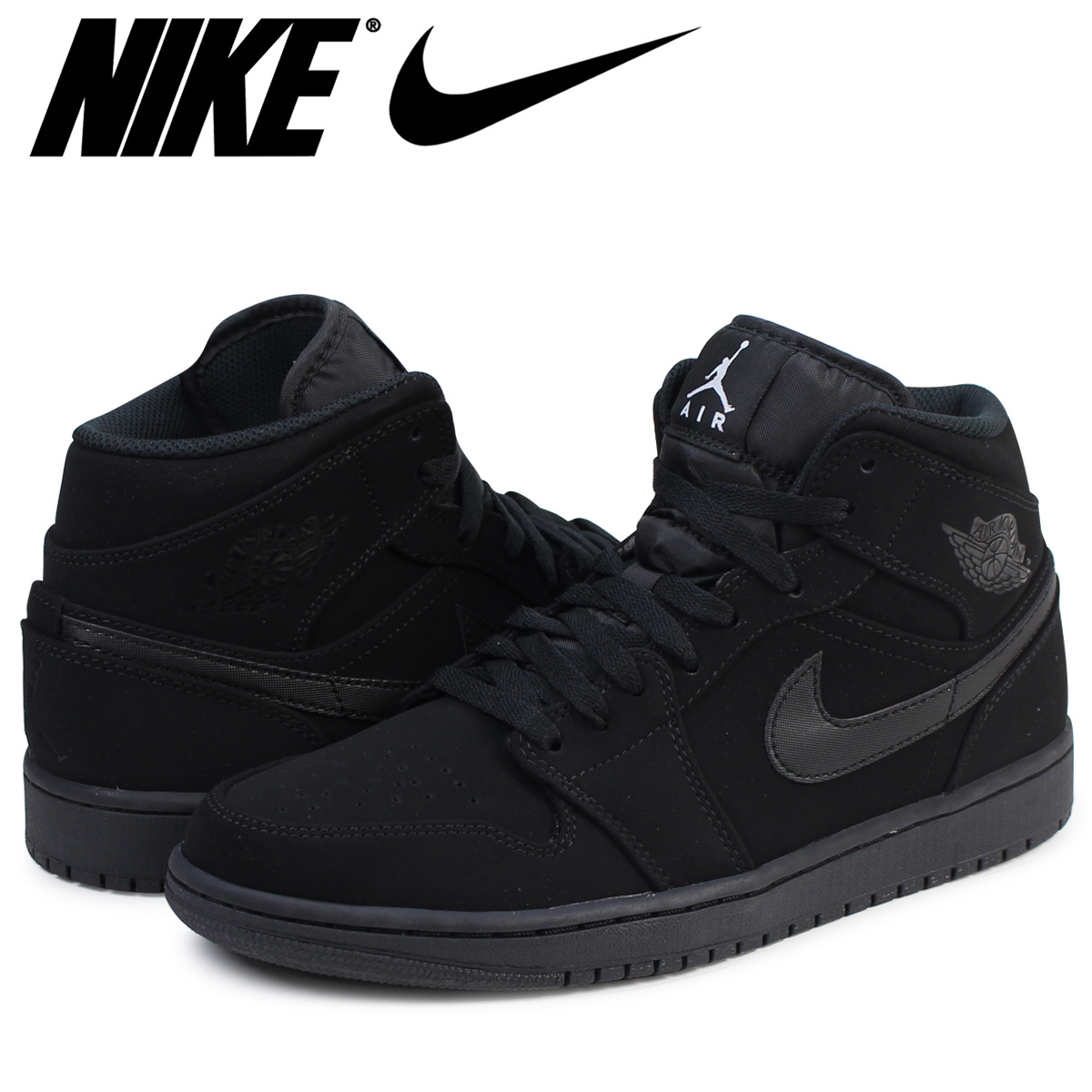 wholesale dealer be957 fb1ee NIKE AIR JORDAN 1 MID Nike Air Jordan 1 sneakers men 554,724-040 black
