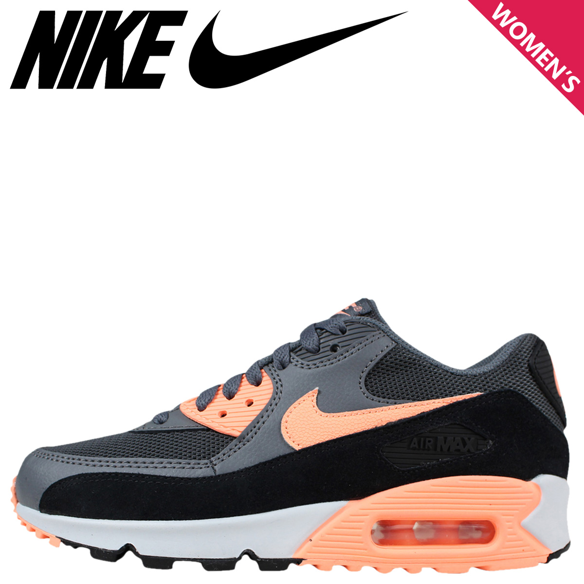 Nike NIKE Air Max sneakers Womens WMNS AIR MAX 90 ESSENTIAL Air Max 90 essential 616730 021 shoes black