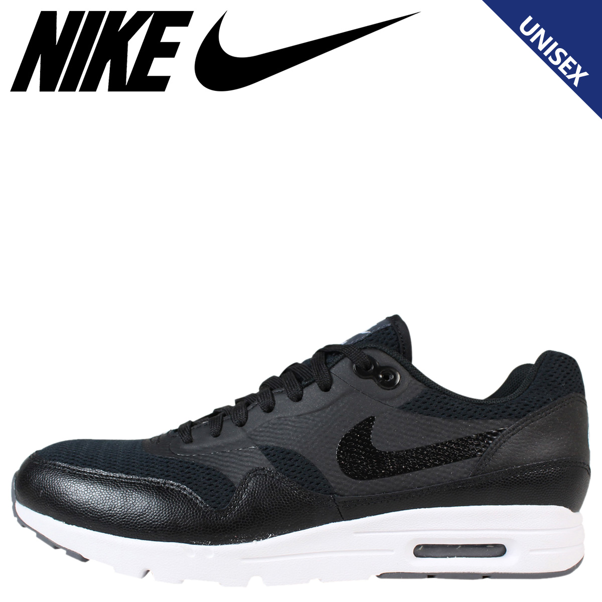 brand new f714a 727d3 NIKE Nike Air Max sneakers Womens WMNS AIR MAX 1 ULTRA ESSENTIALS Air Max 1  704993-009 men s shoes black