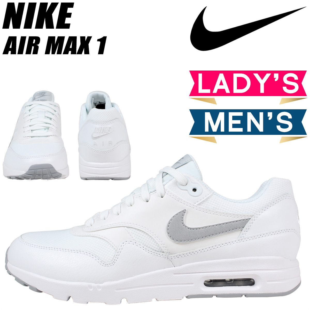 NIKE Kie Ney AMAX sneakers Lady's WMNS AIR MAX 1 ULTRA ESSENTIALS Air Max 1 essential 704,993 102 men's shoes white