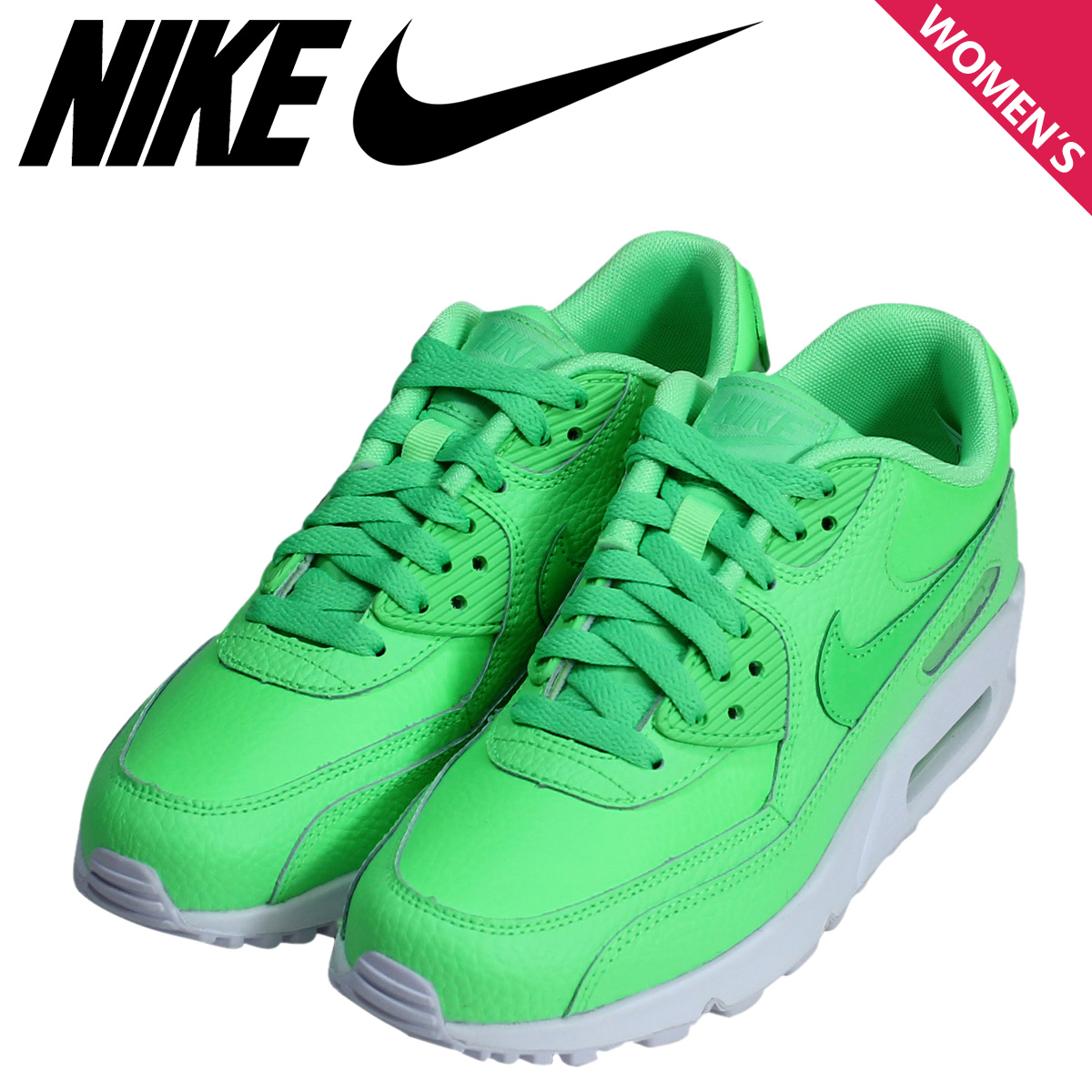 sports shoes ff832 18585 Nike NIKE Air Max Lady s sneakers AIR MAX 90 MESH GS 724,821-300 shoes  green  2 23 Shinnyu load