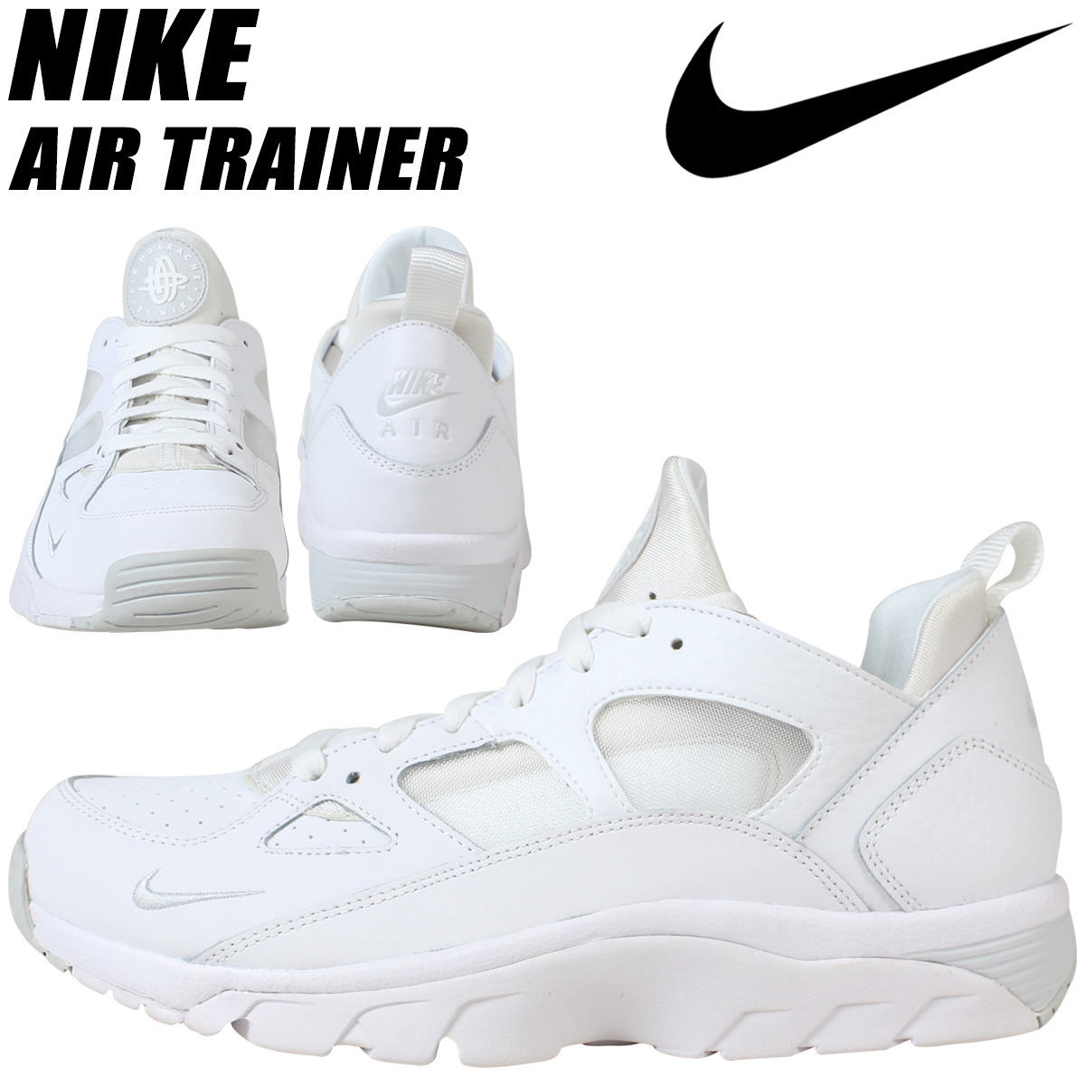 ALLSPORTS  NIKE Nike Air trainer sneakers AIR TRAINER HUARACHE LOW 749447-110  men s shoes white  e15160ef3