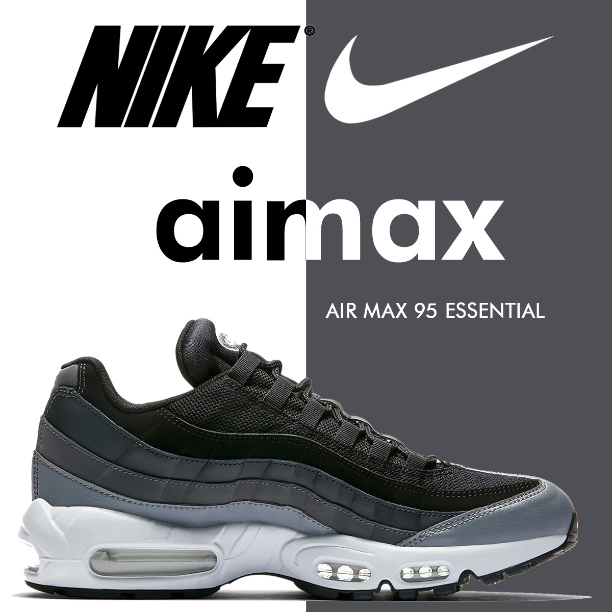 a557795bf9 ... NIKE Kie Ney AMAX 95 essential sneakers AIR MAX 95 ESSENTIAL 749,766-021  men's shoes ...
