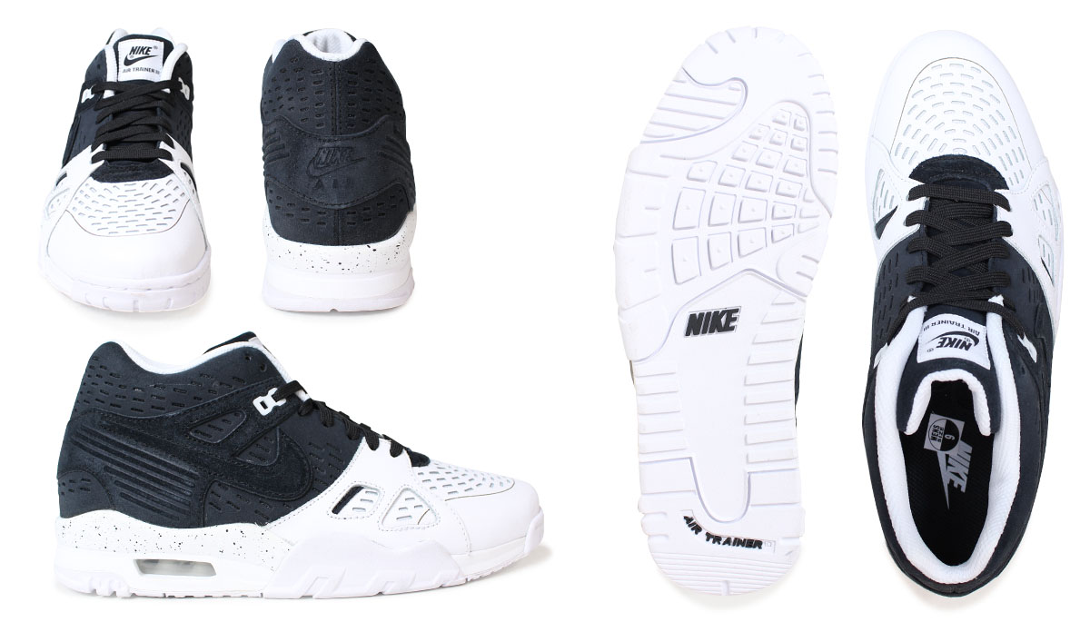Nike NIKE air trainer men sneakers AIR TRAINER 3 LE 815,758-003 shoes black [2/15 Shinnyu load]