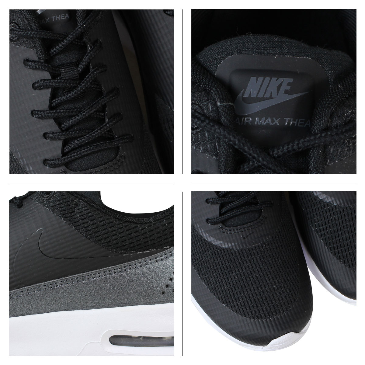 NIKE Kie Ney AMAX sneakers Lady's WMNS AIR MAX THEA TXT Air Max 819,639 004 shoes black