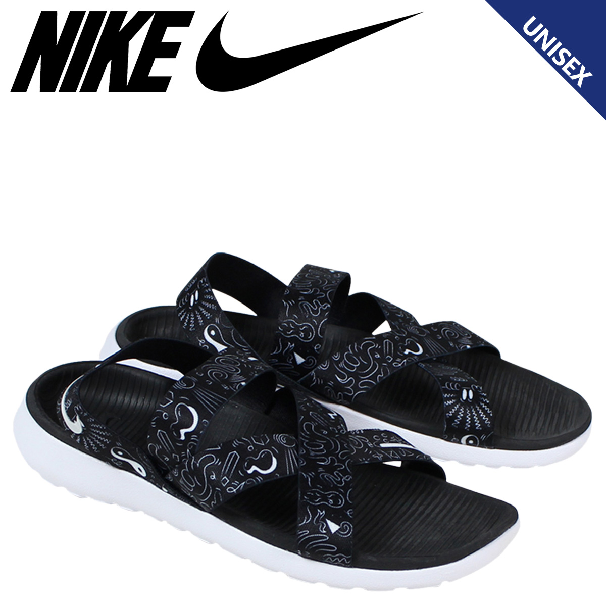 first rate ba623 120b5 NIKE Nike Losone Sandals ladies WMNS ROSHE ONE SANDAL 832644-011 mens shoes  black