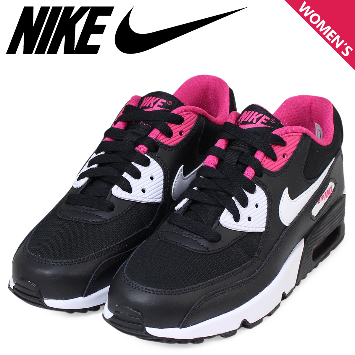 NIKE Air Max Lady's Nike sneakers AIR MAX 90 MESH GS Air Max 833,340 002 shoes black