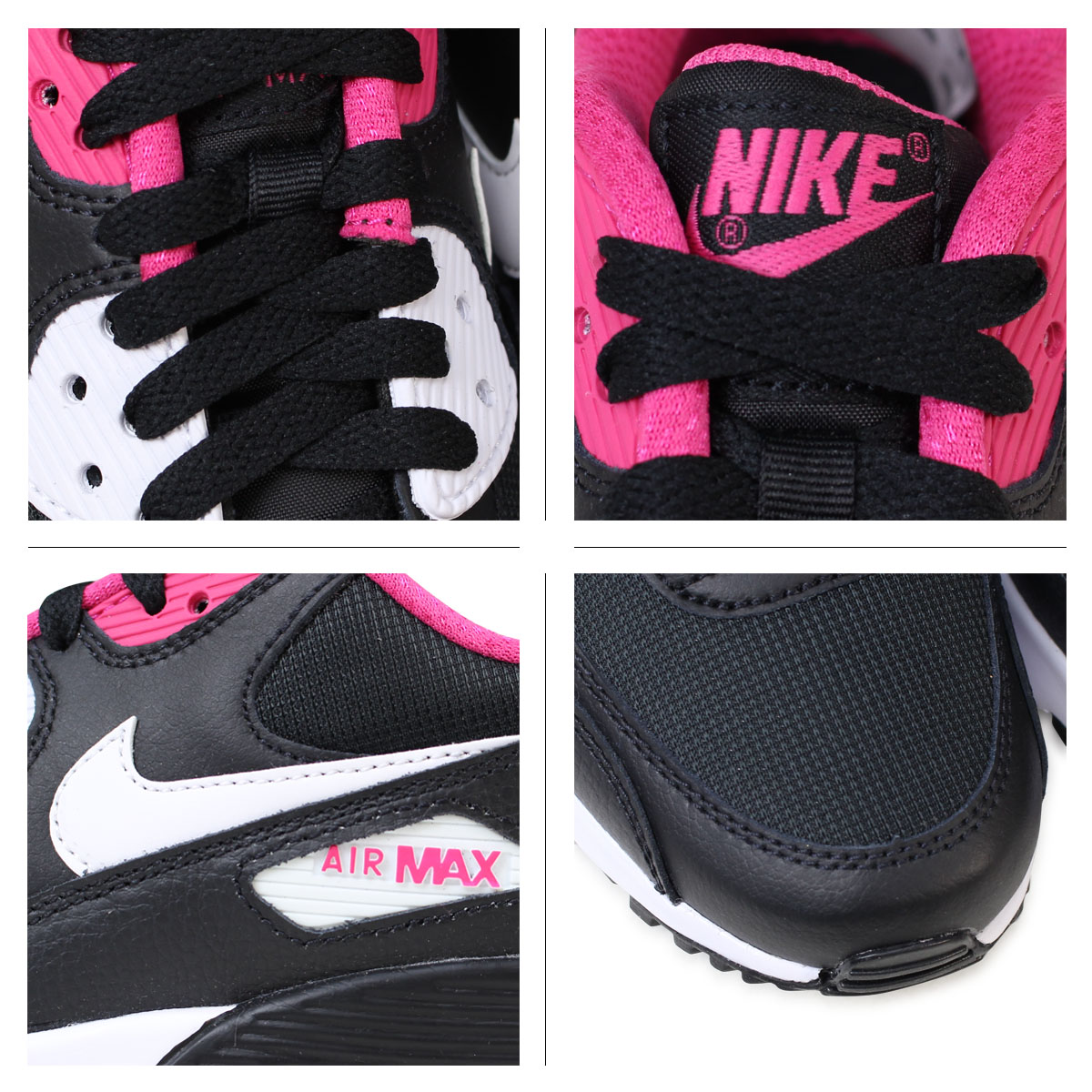 NIKE Air Max Lady's Nike sneakers AIR MAX 90 MESH GS Air Max 833,340 002 shoes black [171]