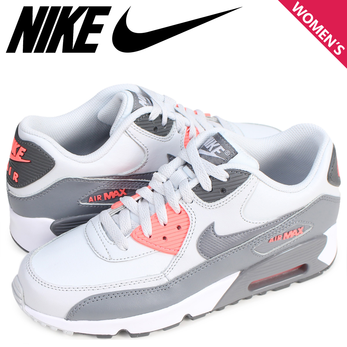 pretty nice a8e64 010ee ALLSPORTS   Rakuten Global Market  NIKE Kie Ney AMAX 90 Lady s sneakers AIR  MAX 90 LTR GS 833,376-006 shoes white  5 11 Shinnyu load   175