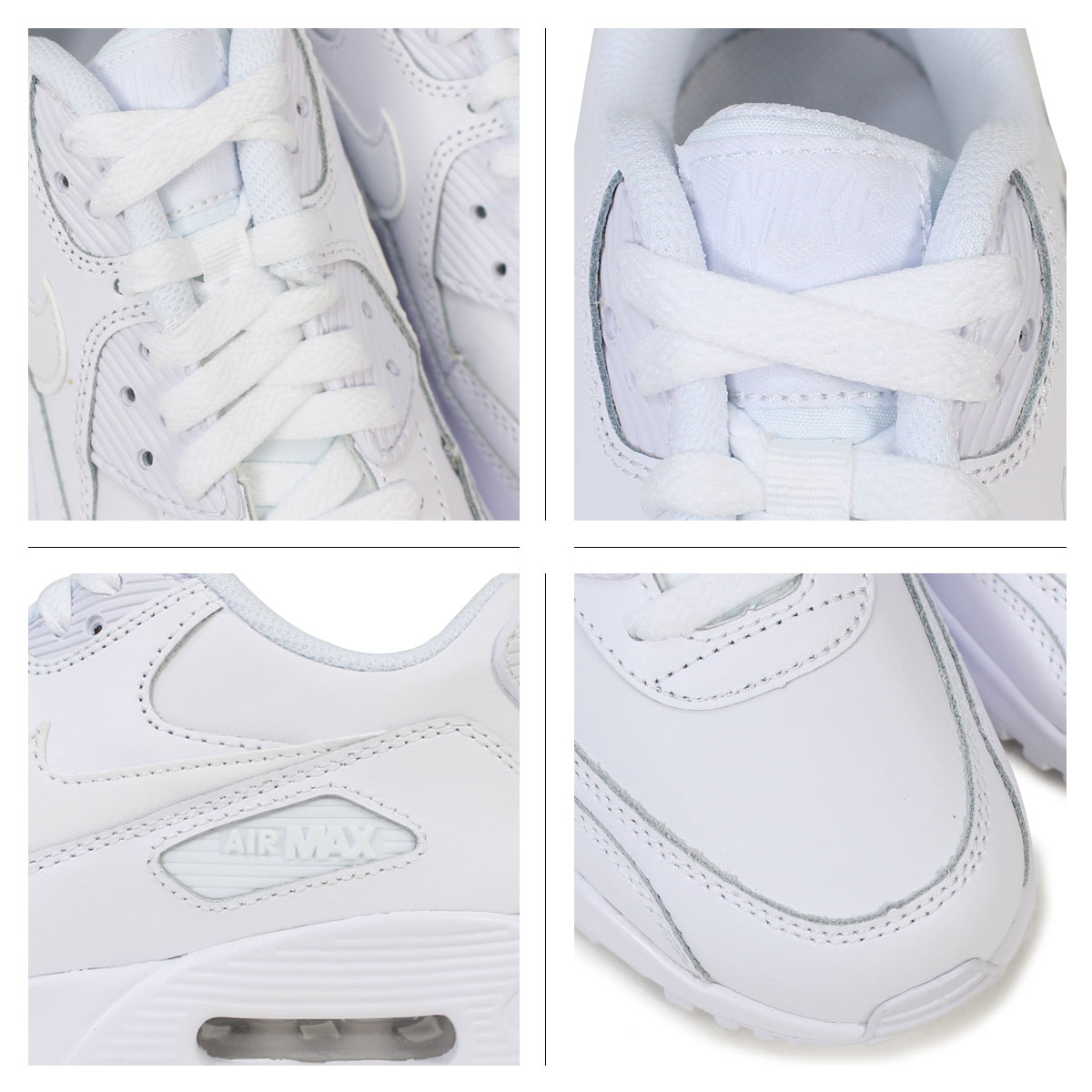 nike air max 90 white leather womens