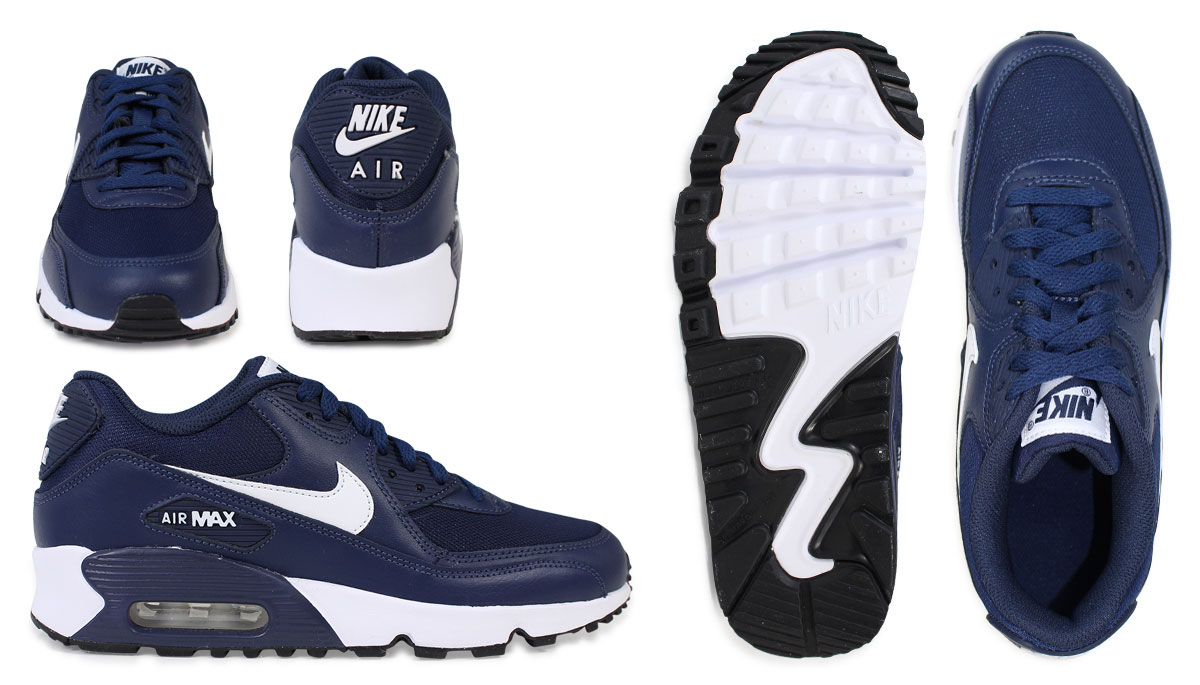 986d047e3453 Nike Air Max Womens NIKE sneakers AIR MAX 90 MESH GS Air Max 833418-400 shoes  Navy  11   26 new in stock